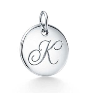 "Tiffany ""Notes"" Letter K Charm"